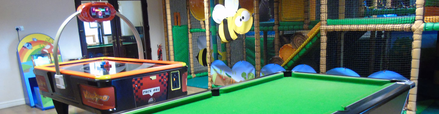 Childrens indoor play area at Upwood Holiday Park